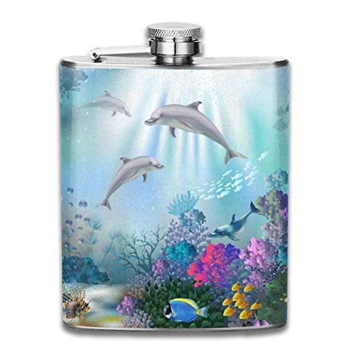 Miedhki Stainless Steel Flask Egyptian Old Culture Whiskey Flask Vodka Portable Pocket Bottle Camping Wine Bottle 7oz Suitable for Men and Women Multicolor14