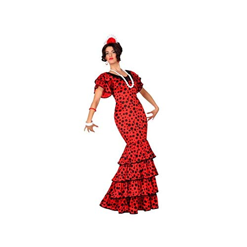 Atosa- Disfraz rumbera, Color rojo, XL (15589)