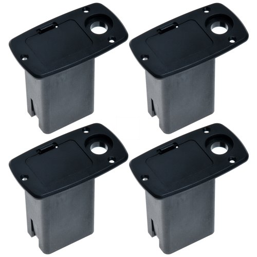 Sale!! 4pcs Black 9v Battery Box Acoustic Guitar Bass Active Electronics Preamp No Mental Contact