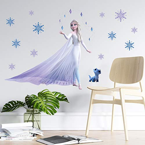 TUWUNA Frozen 2 Wall DecalsGiant Elsa Stickers Girl#039s Cartoon Bedroom Background Wall Decoration SelfAdhesive Wall Sticker for Party DecorationsParty Decal for Kids Party Favors