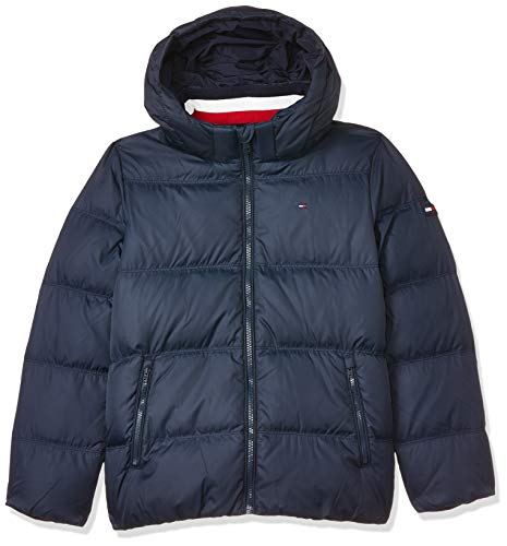 Tommy Hilfiger Jungen Essentials DOWN Jacket Jacke, Blau (Blue 002), 122 (Herstellergröße:7)