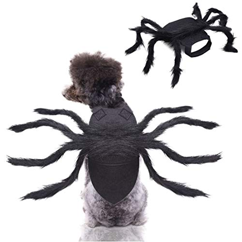 Supoice Halloween Pet Spider Costumes Cosplay for Dog & Cat Costume Furry Giant Realistic Spider Halloween Pets Decorations for Dogs Puppy Cats (Spider)
