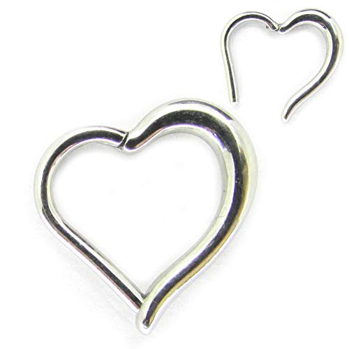 NewkeepsR 316L 16ga Surgical Steel Heart Hinged Clikcer Daith Helix Rook Piercing Ring