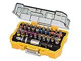 DeWalt - Merchandiser con 12 Juego DT7969M-QZ: 32 Puntas, Pz, Ph, Pl, Torx, Torx Inviolables Hexagonal y Adaptador, Multicolor