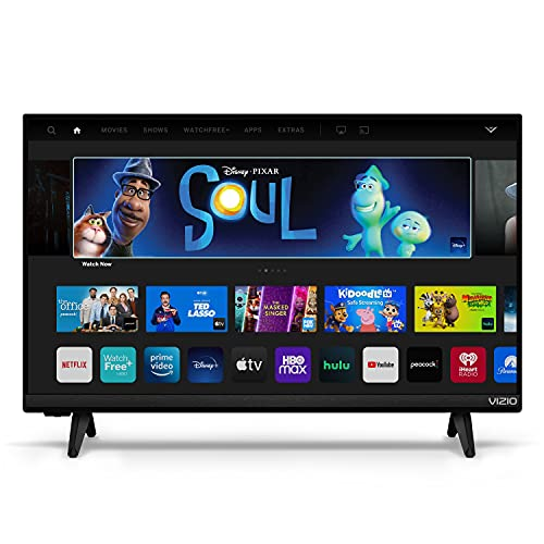 VIZIO 24-inch D-Series Full HD 1080p Smart TV with Apple AirPlay and Chromecast Built-in, Screen Mirroring for Second Screens, & 150+ Free Streaming Channels, D24f4-J01, 2021 Model
