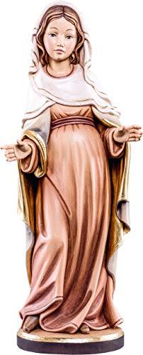 Ferrari & Arrighetti Imagen de la Virgen Embarazada en Talla de Madera Pintada a Mano - Mide 10 cm - Demetz Deur