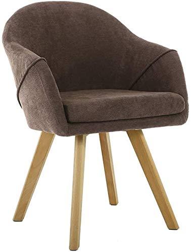Holzküchenstühle, Esszimmerstühle, moderne Freizeitmöbel, bequeme Rückenlehne, geschwungene Armlehnen,Brown