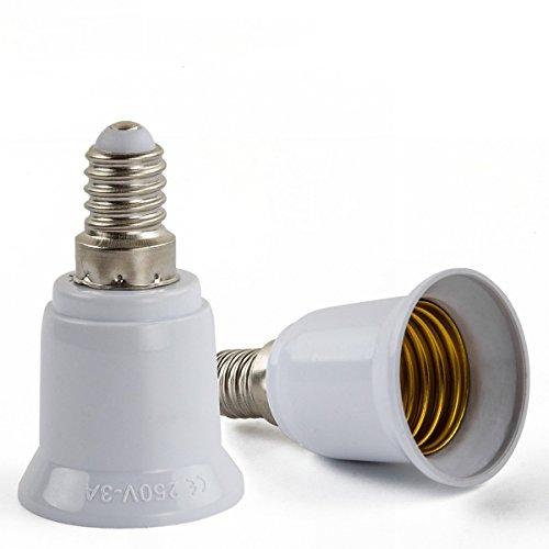 AWE de Light 6x Adaptador Conversor de casquillo E14a E27para bombillas LED