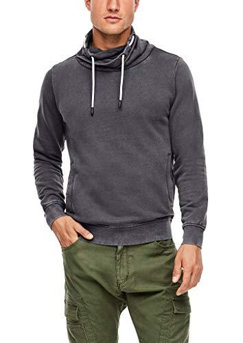 s.Oliver Herren Sweatshirt mit Schalkragen Grey 3XL