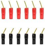 Greluma 12 Piezas Conector Tipo Banana de 2 mm Tipo Tornillo, Conector de Cable de Altavoz de Audio Chapado en Oro de 2 mm