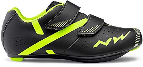 Northwave Torpedo 2 Junior Kinder Rennrad Fahrrad Schuhe schwarz/gelb 2020: Größe: 35