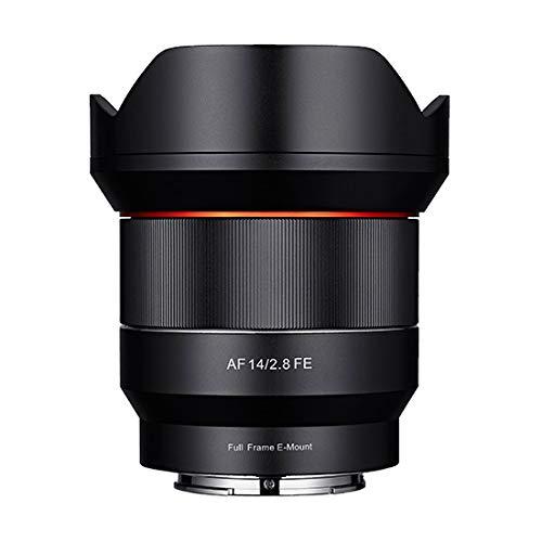 Samyang AF 14mm F2,8 FE für Sony E Mount Objektiv I Weitwinkel mit 113,9° Bildwinkel & präzisem Autofokus I Festbrennweite für alle spiegellosen Sony E Vollformat & APS-C Kameras I Metallgehäuse