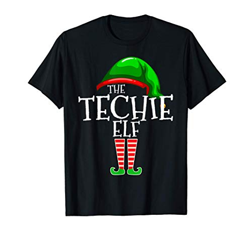 The Techie Elf Family Matching Group Christmas Gift Funny T-Shirt