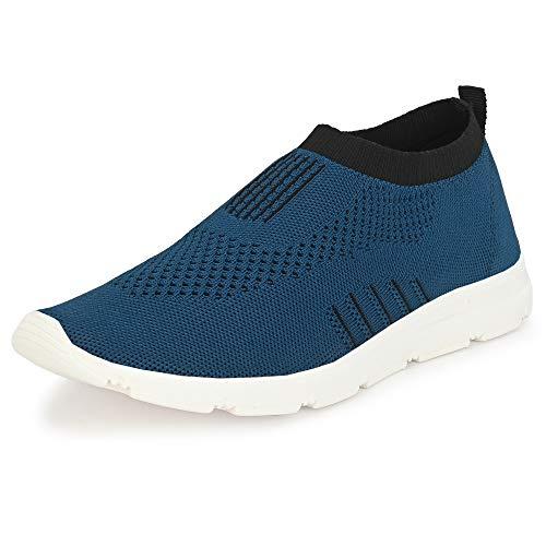 Bourge Men's Vega-Z1 Teal Blue and Black Running Shoes-8 UK (42 EU) (9 US) (Vega-11-08)
