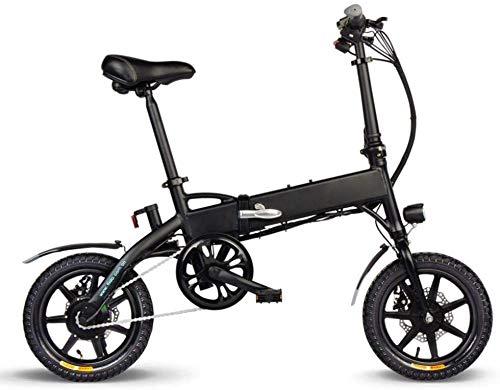 QUETAZHI 7.8AH 10.4AH Folding Elektro-Fahrrad, Elektro-Auto-Batterie Mini-Aluminium-Intelligent Mofas EU-Stecker Schwarz Weiß QU526 (Color : Black, Size : 10.4AH)