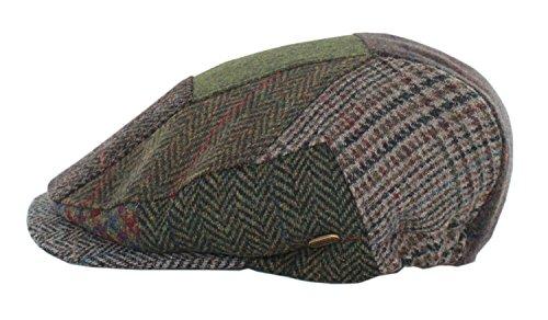 Mucros Weavers Men's Irish Made Kerry Patch Cap (L, Patch Fabric B)