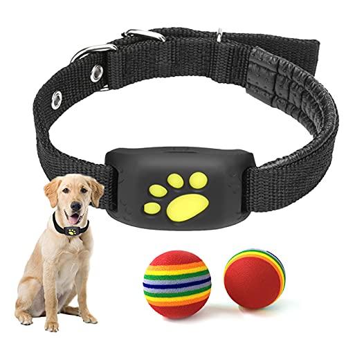WFGF Pet Tracker - Collier Intelligent pour Chien avec GPS - Clôture sans Fil pour Chien, GPS, télécommande, étanche et Rechargeable avec 2 Paquets de Jouets à balles