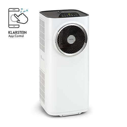 KLARSTEIN Kraftwerk Smart 10K - Climatiseur Mobile 3-en-1, Fraicheur, déshumidification et Ventilation, 10.000 BTU /2,9 KW, 440 m³/h, contrôle Via Application WiFi, Blanc