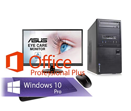 Ankermann PC Intel i5 4570 4x3.20GHz HD Graphic 8GB RAM 240GB SSD 1TB HDD Windows 10 PRO W-LAN Office Professional 24 TFT Bundle Keyboard Mouse