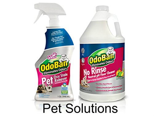 OdoBan Pet Solutions 32oz Spray Bottle and 1 Gal Neutral pH Floor Cleaner Concentrate