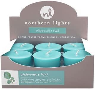 Northern Lights Candles Fragrance Palette 6Pc Votive Box, Watercress & Mint