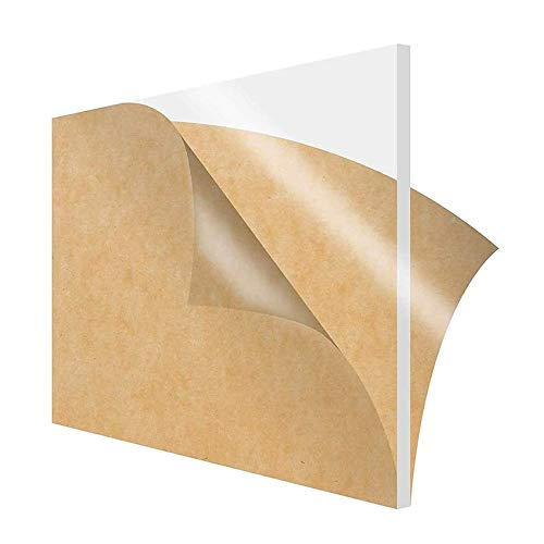 MHUI 6 Piezas De LáMina De AcríLico Transparente Tablero De Perspex De 1mm De Grosor, para Hacer Anuncios De Bricolaje,20cm X 20cm...