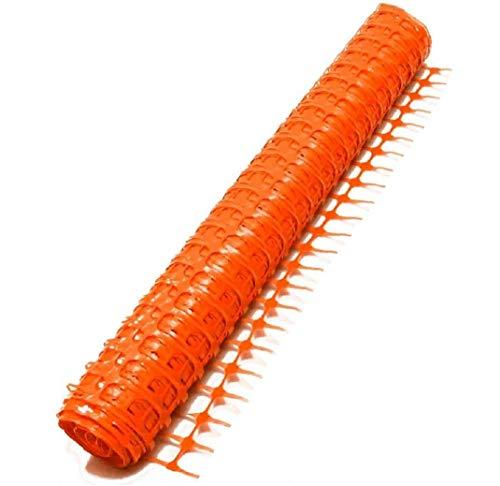 Rollen mit je 1 m x 50 m Warnzaun Warnnetz, Kunststoff, Absperrzaun Bauzaun Sicherheitszaun (1 Rolle 50 m, Orange)