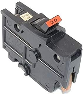 1- FEDERAL PACIFIC NA120 20AMP 1POLE STAB-LOK FPE THICK STYLE NA20 CIRCUIT BREAKER