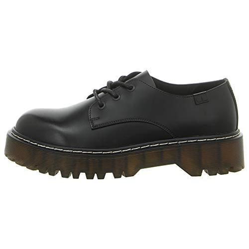 Coolway Calia, Zapatos de Cordones Oxford para Mujer, Negro (Black 000), 37 EU