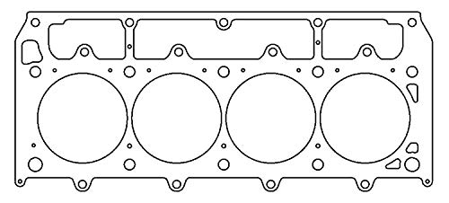 Cylinder Head Gasket, 4.185 in Bore, 0.040 in Compression Thickness, Driver Side, Multi-Layered Steel, GM LS-Series, Each -  COMETIC GASKETS, C5936-040