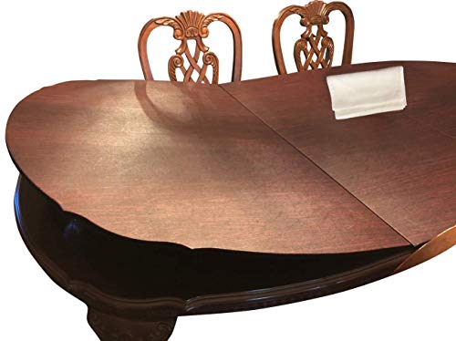 "Custom Cut Table Pads for Rectangle Dining Room Table with Squared Corners - Leaf Extensions Included | Bundle with L&L Table Runner (2 Items) | (Maximum Size: 120"" Long by 60"" Wide)"