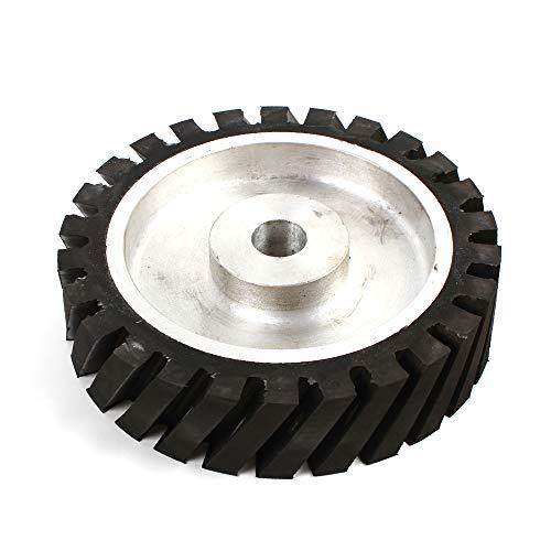 OUKANING Zahnoberfläche Aluminiumkern Gummi Kontaktrad Bandschleifmaschine für Schleifmaschine (200 * 50 * 25mm)