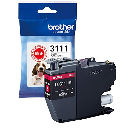 【brother純正】インクカートリッジマゼンタ LC3111M 対応型番:DCP-J987N、DCP-J982N、DCP-J587N、DCP-J582N、MFC-J738DN 他