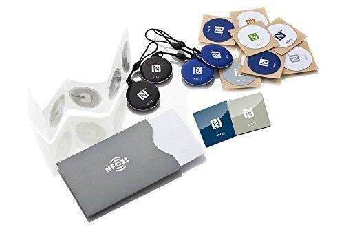 NFC Starter Kit, der perfekte Einstieg in die NFC Welt, kompatibel mit Allen NFC Smartphones, Starter Kit Maxi
