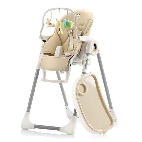 Mitwachsender Hochstuhl Baby, Verstellbar und Klappbar mit Spielbogen - 7 Höhen, Rückenlehne Kind 5 Positionen, Abnehmbares Tablett, Aufsteckbarer Teller (einfache Reinigung), Komfort Polster Baby