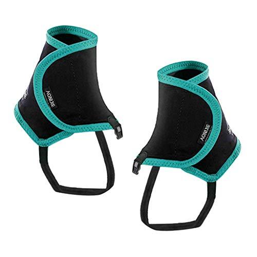 MagiDeal Paire de Couvre-Chaussures de Protection Guêtres Low Trail Wrapid Gators pour Hommes, Femmes et Jeunes Course à Pied Randonnée Escalade - Vert, 25x17cm