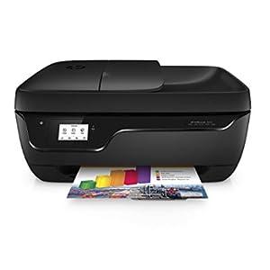 HP OfficeJet 3833, Stampante Multifunzione a Getto di Inchiostro, Scanner, Fotocopiatrice e Fax, ADF, Wi-Fi, Wi-Fi Direct, App HP Smart, Design Compatta, 2 Mesi di Servizio Instant Ink Inclusi, Nero