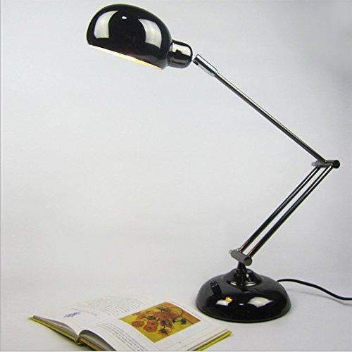 OOFAY LIGHT Lampada da Scrivania con Braccio Mobile LED A Braccio Girevole Lampada da Tavolo A LED da Lavoro A Forma di Occhiale Nero