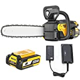 AS 16-inch Low Noise Cordless Chainsaw, 40V 5.0Ah Battery&Charger, Copper Motor, Safe Trigger, Tool-Free Install for Pruning/Trimming/Gardening, Handheld Power Chain SawsIdeal for Men/Women/Seniors
