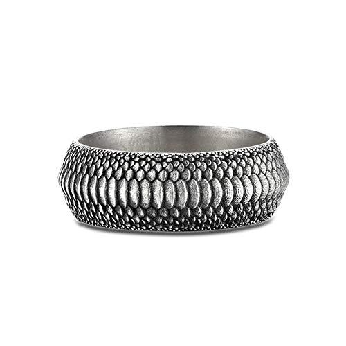 7 Mm Ring Unisex Solid 925 Sterling Silber Hochzeitsring Herren Damen Band Ring,22#