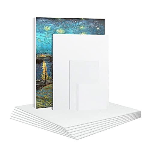 6 Pz Cotone Artista Tela Pannello Vuoto Tavole di Tela Primed Tavole Pittura Art Frame per Olio Acrilico 20x25cm 25x25cm 25x30cm 10x10cm