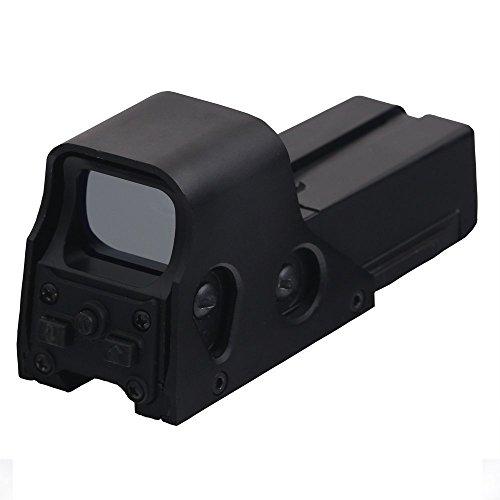 "30 Yards Tactical ""552 Holographic"" Rifle Shotgun Pistol Absehen Rot Gruen Dot Reflex Sight / Scope, 10 Levels Helligkeit (Mit 2 AA Batterie) - Rifle de airsoft"