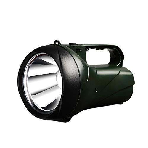 PHH Linterna LED Recargable Lluvia de búsqueda 15W Lámpara portátil de Alta Potencia 2 Modos antorcha incorporada 3000 MA batería de Litio