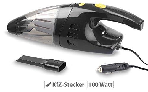 Lescars Autosauger: Beutelloser Nass- & Trocken-Auto-Staubsauger für 12-V-Anschluss, 100 W (Kfz Staubsauger)
