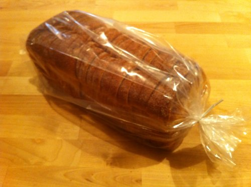 Thick Bread Bags (100 Packs) with Free Twist Ties