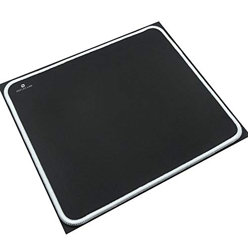 Reflex Lab Mouse Pad/Mat, (White) Stitched Edges, Waterproof, Ultra Thick 3mm, Silky Smooth - 9'x8' Mousepad