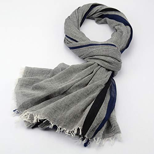 JX-Weijin Heren Thermische Sjaal Warm Winter Klassieke Zachte Lange Nek Sjaals Gestreepte Sjaal, Een Maat
