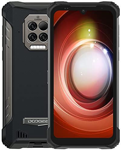 DOOGEE S86 Pro [2021] 8GB +128GB Movil Libre con Termómetro Infrarrojo, 8500mAh Batería, IP68 IP69K Movil Resistente Agua y Golpes, Triple Cámara de 16 MP, Helio P60 4G Smartphone, 6.1inch, NFC, Negro