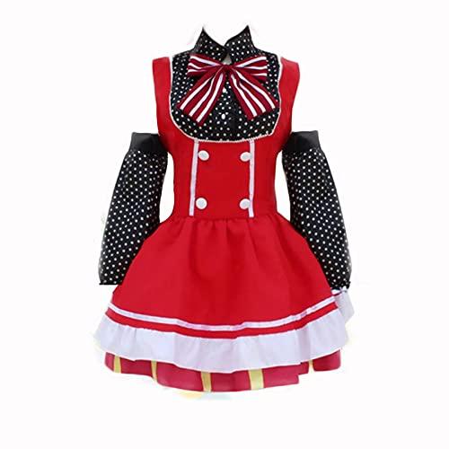 ULLAA Anime Love Live School Idol Project Nishikino Maki Sweet Candy Dress Love Live Maid Cosplay disfraz Lolita vestido XS rojo