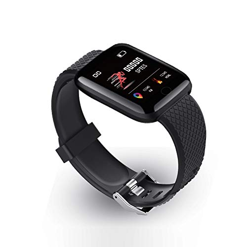 Kylewo Fitness Polsband met Hartslagmeter, Smartwatch Sport Horloge Smart Horloge Fitness Tracker Polshorloge Smart Multifunctionele Horloge Dames Mens